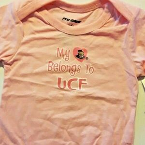 PROEDGE UCF GOLDEN KNIGHTS 6-9 MO PINK CREEPER NEW